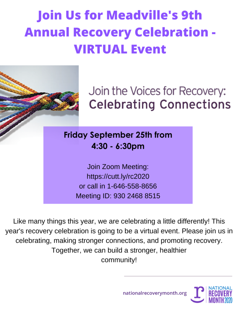 Recovery Month Celebration 2020